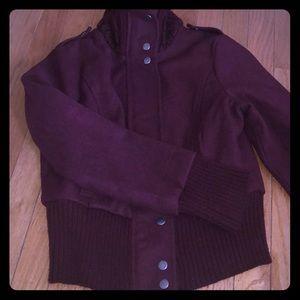 Maroon coat Charlotte Rousse size small